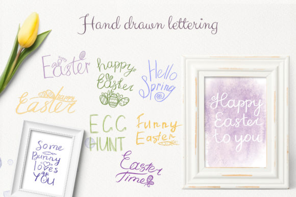 Download Free Handwritten Phrases About Easter Graphic By Natalia Arkusha for Cricut Explore, Silhouette and other cutting machines.