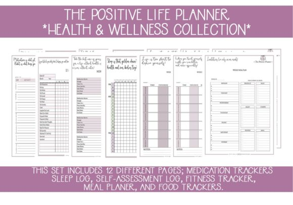Print on Demand: Health & Wellness Planner Pages Grafik Druck-Templates von capeairforce