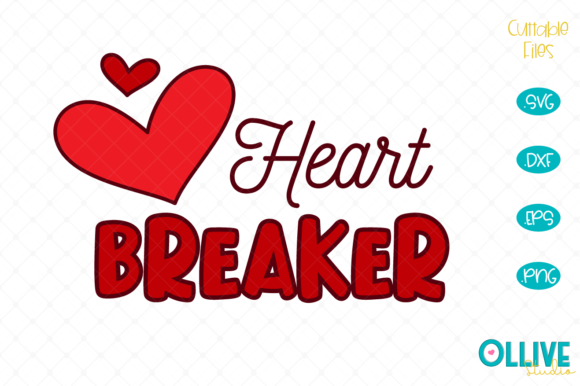 Download Free Heart Breaker Valentine S Day Graphic By Ollivestudio Creative for Cricut Explore, Silhouette and other cutting machines.