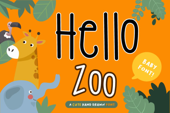 Print on Demand: Hello Zoo Script & Handwritten Font By vividdiy8