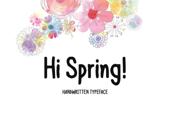 Print on Demand: Hi Spring Display Schriftarten von FontEden