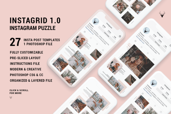 Print on Demand: Instagram Puzzle Gráfico Páginas web Por SilverStag