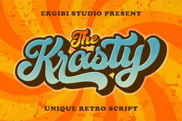 Print on Demand: Krasty Script & Handwritten Font By ergibi studio