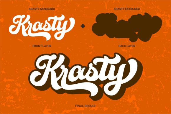 Print on Demand: Krasty Script & Handwritten Font By ergibi studio - Image 3