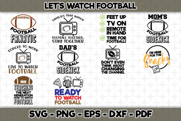 Print on Demand: Let's Watch Football Bundle Graphic Crafts By SVGExpress