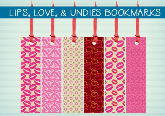 Print on Demand: Lips, Love, & Undies Bookmarks Graphic Illustrations By capeairforce