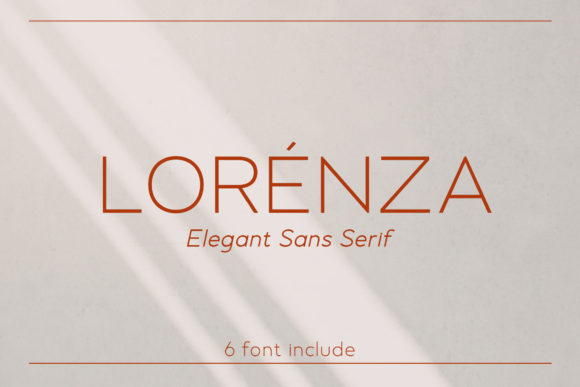 Print on Demand: Lorenza Sans Serif Font By almarkhatype