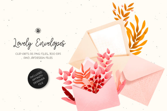 Print on Demand: Lovely Envelopes Graphic Illustrations By webvilla
