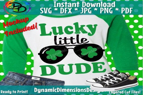 Download Free Lucky Little Dude Graphic By Dynamicdimensions Creative Fabrica for Cricut Explore, Silhouette and other cutting machines.