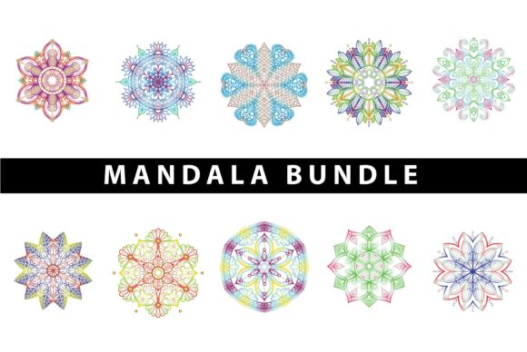 Download Free Mandala Bundle Graphic By Redsugardesign Creative Fabrica for Cricut Explore, Silhouette and other cutting machines.