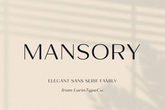Print on Demand: Mansory Sans Serif Font By Pasha Larin