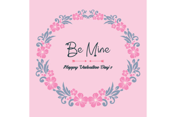 Modern Greeting Card Template Be Mine Graphic Backgrounds By stockfloral