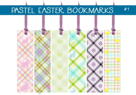 Print on Demand: Pastel Easter Bookmarks Graphic Illustrations By capeairforce