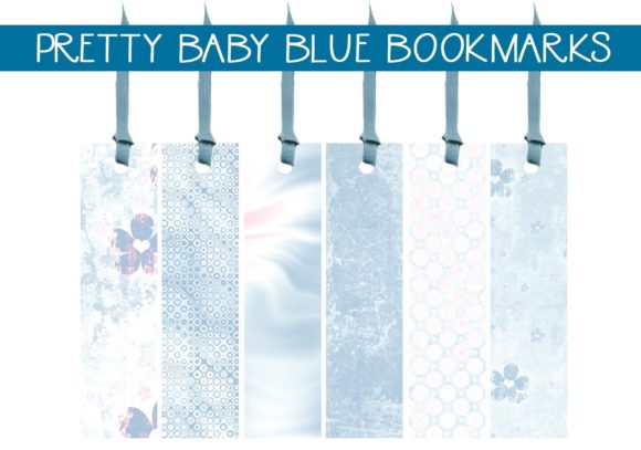 Print on Demand: Pretty Baby Blue Bookmarks Graphic Illustrations By CapeAirForce