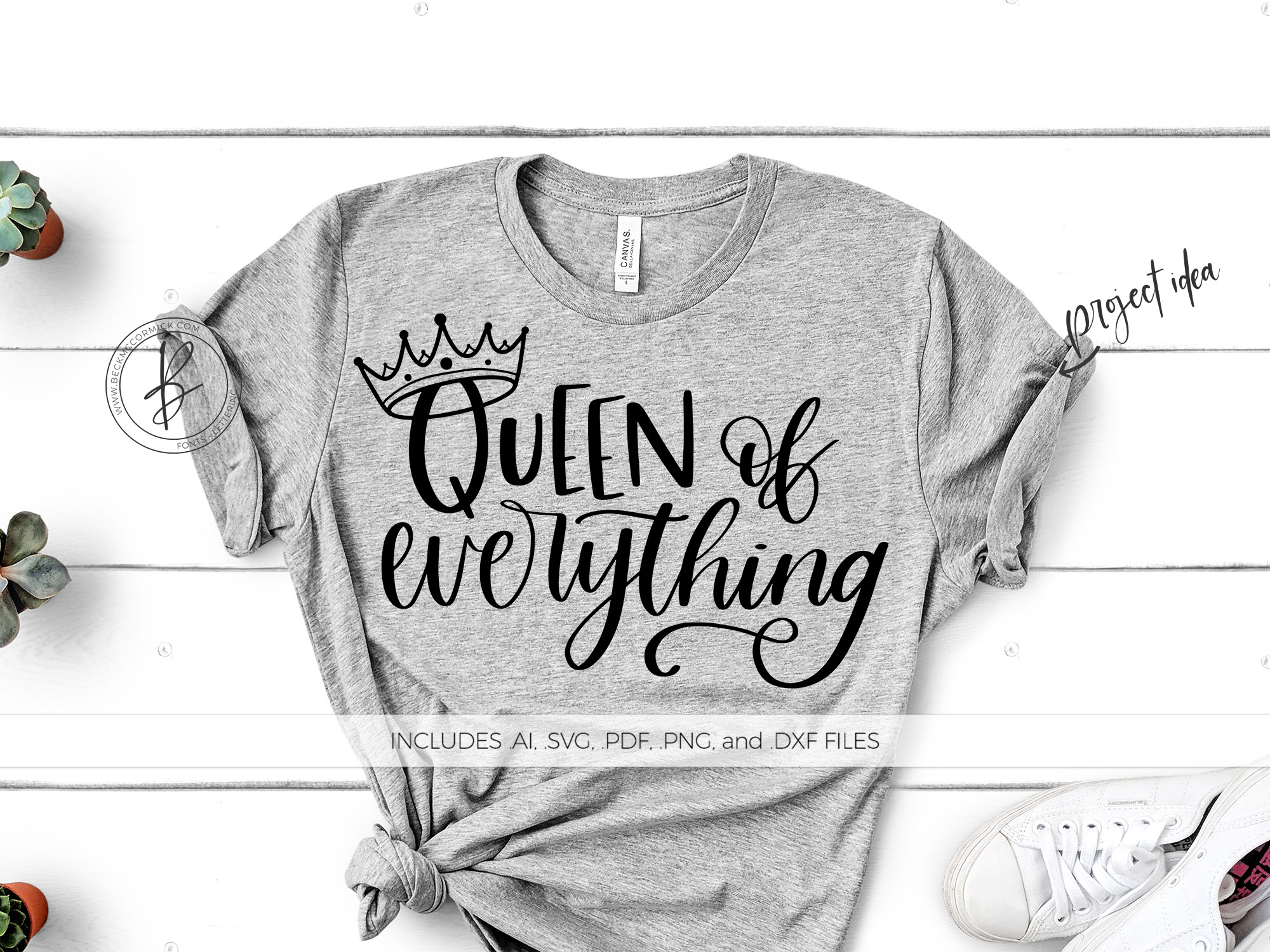 Download Free Queen Of Everything Graphic By Beckmccormick Creative Fabrica for Cricut Explore, Silhouette and other cutting machines.