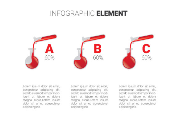 Print on Demand: Red Chemistry Graphic Infographics By kokostd