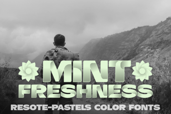 Print on Demand: ResotE Pastels Family Color Fonts Font By glukfonts - Image 5
