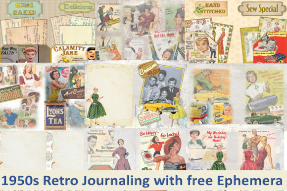 Print on Demand: Retro Journaling Kit and Ephemera Graphic Crafts By The Paper Princess