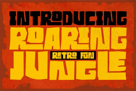 Print on Demand: Roaring Jungle Display Font By ergibi studio - Image 1