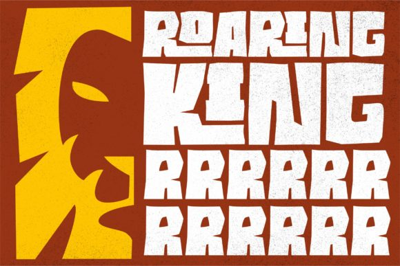 Print on Demand: Roaring Jungle Display Font By ergibi studio - Image 2