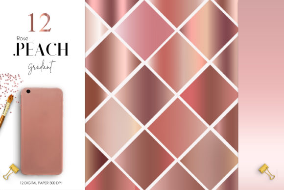 Print on Demand: Rose Peach Gradient Graphic Backgrounds By The Rose Mind