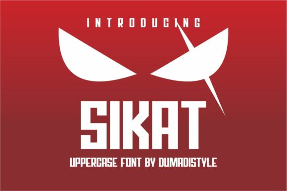 Print on Demand: Sikat Display Font By DUMADI