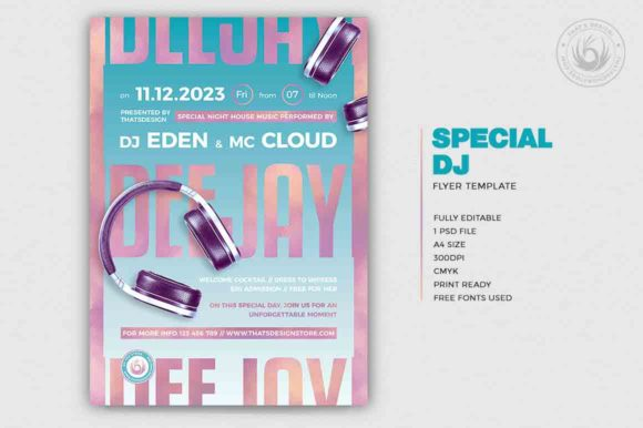 Download Free Special Dj Flyer Graphic By Thatsdesignstore Creative Fabrica for Cricut Explore, Silhouette and other cutting machines.