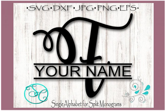 Download Free Split Monogram Letter F Graphic By Shannon Casper Creative Fabrica SVG Cut Files