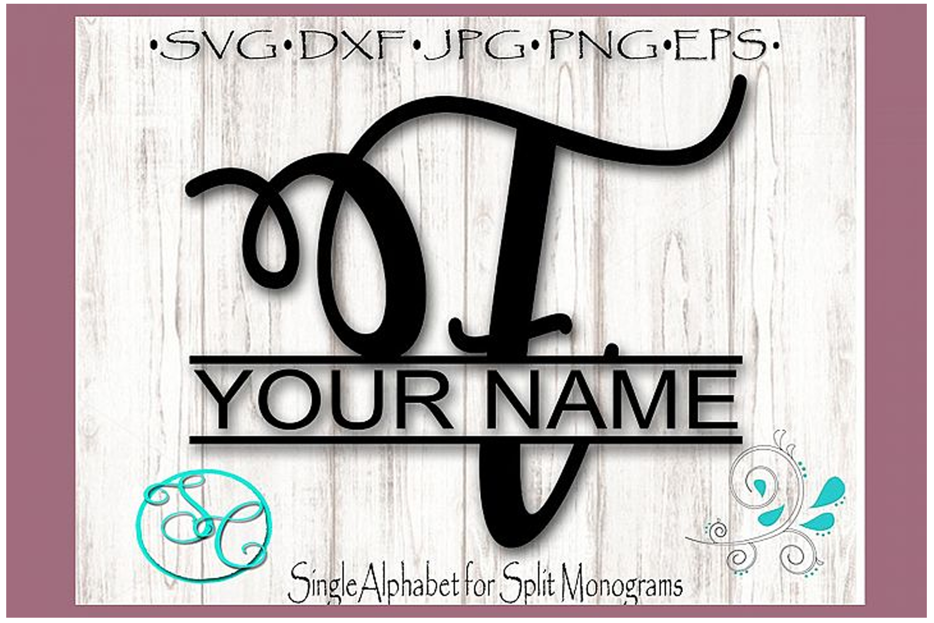 Download Free Split Monogram Letter F Graphic By Shannon Casper Creative Fabrica for Cricut Explore, Silhouette and other cutting machines.