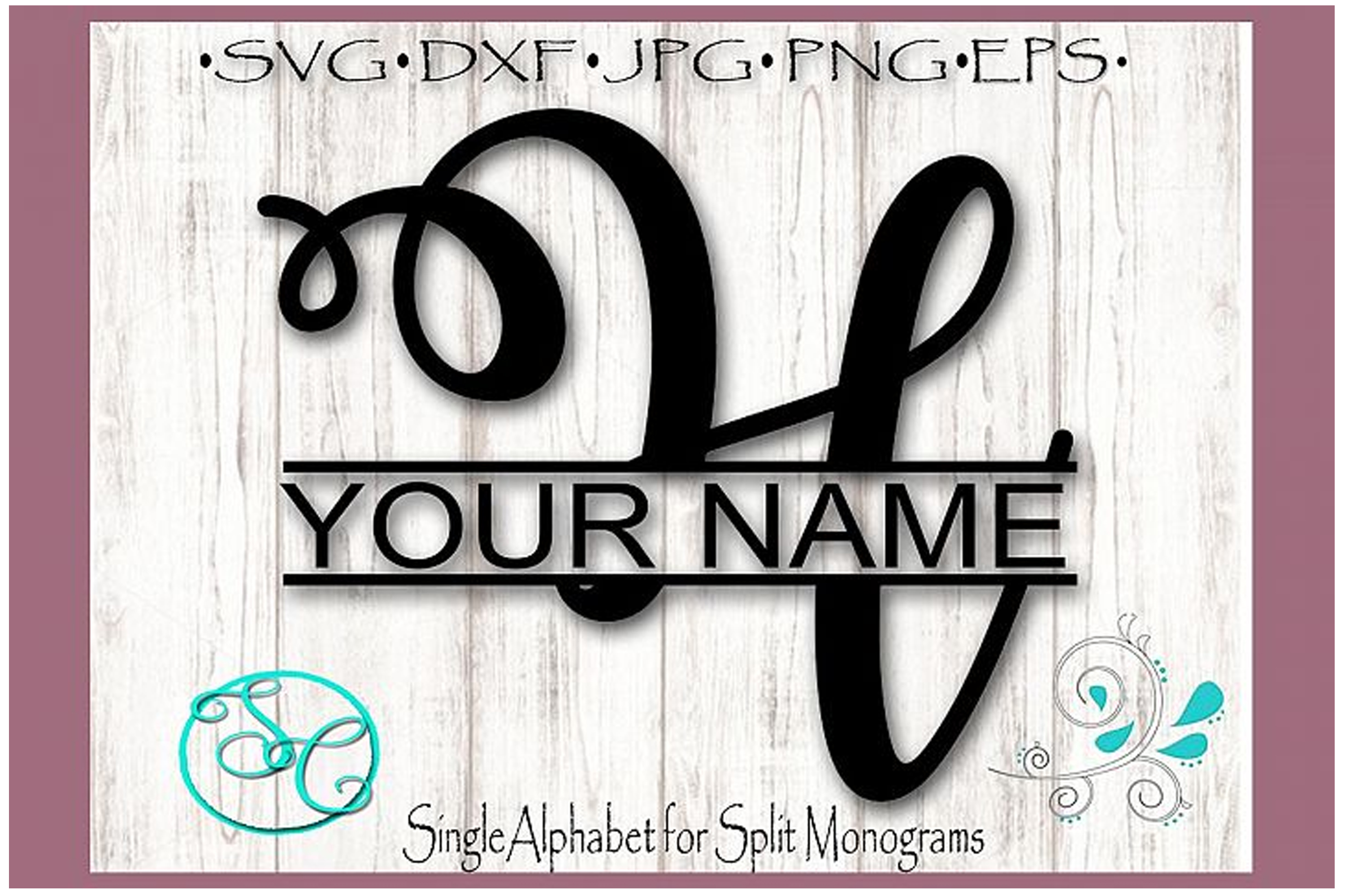 Download Free Split Monogram Letter H Graphic By Shannon Casper Creative Fabrica for Cricut Explore, Silhouette and other cutting machines.