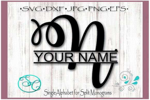 Download Free Split Monogram Letter N Graphic By Shannon Casper Creative Fabrica for Cricut Explore, Silhouette and other cutting machines.