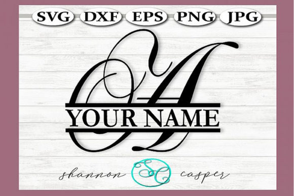Download Free Split Monogram Swirl Letter A Graphic By Shannon Casper for Cricut Explore, Silhouette and other cutting machines.