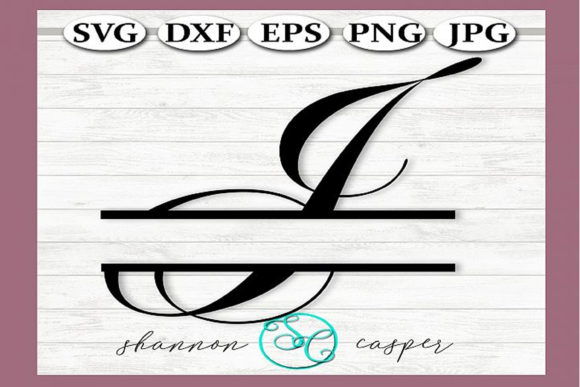 Print on Demand: Split Monogram Swirl Letter I Graphic Illustrations By Shannon Casper