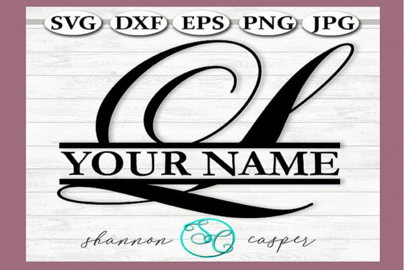 Download Free Split Monogram Swirl Letter L Graphic By Shannon Casper for Cricut Explore, Silhouette and other cutting machines.
