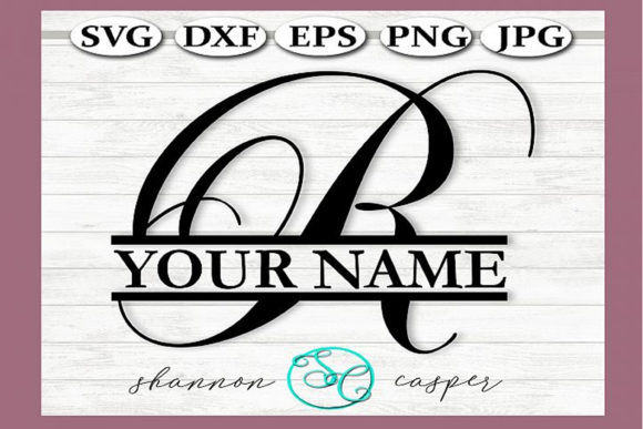 Download Free Split Monogram Swirl Letter R Graphic By Shannon Casper for Cricut Explore, Silhouette and other cutting machines.