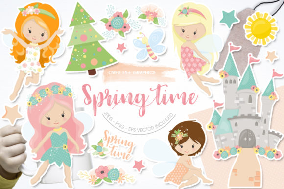 Print on Demand: Spring Time Graphic Illustrations By Prettygrafik