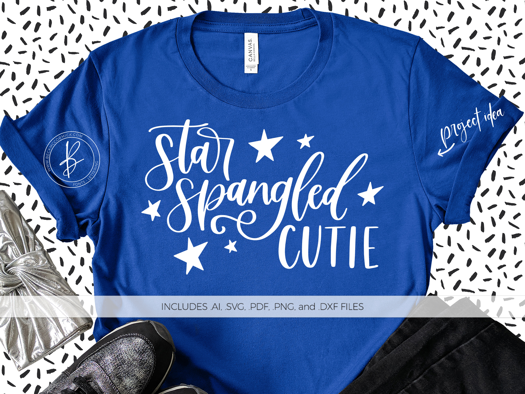 Download Free Star Spangled Cutie Graphic By Beckmccormick Creative Fabrica SVG Cut Files