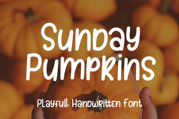 Print on Demand: Sunday Pumpkins Script & Handwritten Font By agamous