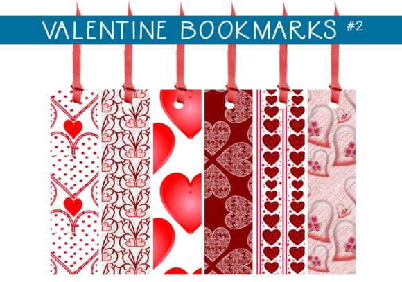 Print on Demand: Valentine Bookmarks #2 Graphic Illustrations By capeairforce