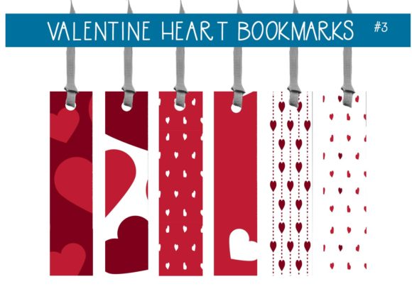Print on Demand: Valentine Heart Bookmarks  #3 Graphic Illustrations By capeairforce