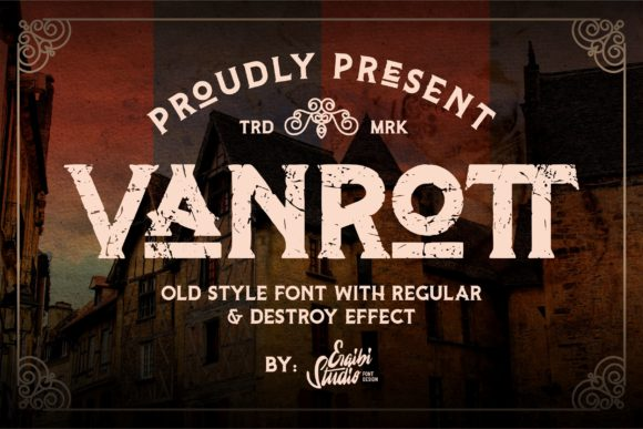 Print on Demand: Vanrott Serif Fuente Por ergibi studio