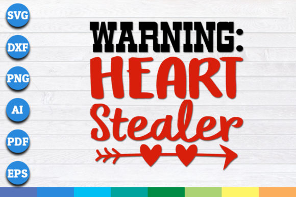 Download Free Warning Heart Stealer Graphic By Aartstudioexpo Creative Fabrica for Cricut Explore, Silhouette and other cutting machines.