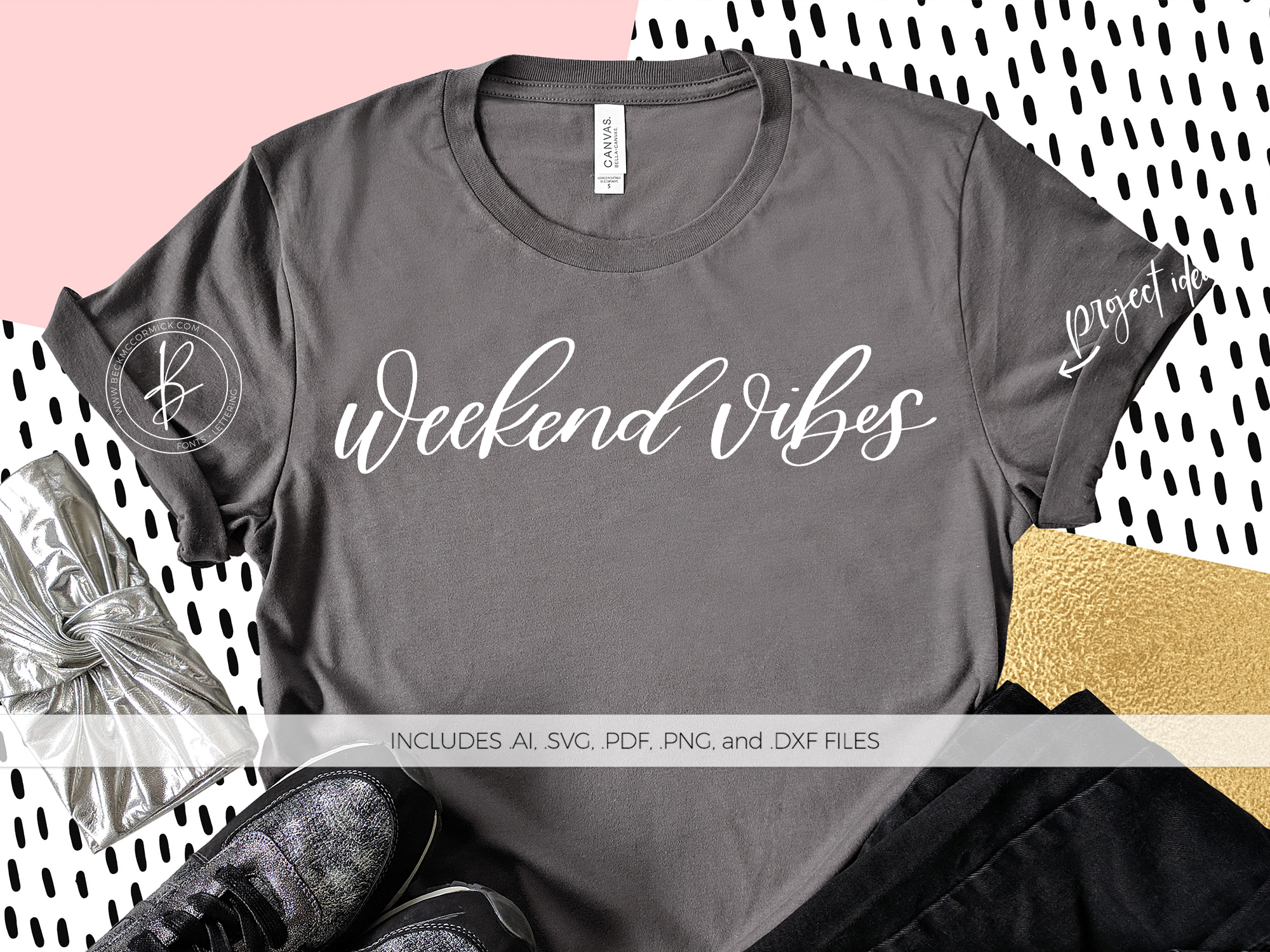 Download Free Weekend Vibes Grafico Por Beckmccormick Creative Fabrica for Cricut Explore, Silhouette and other cutting machines.