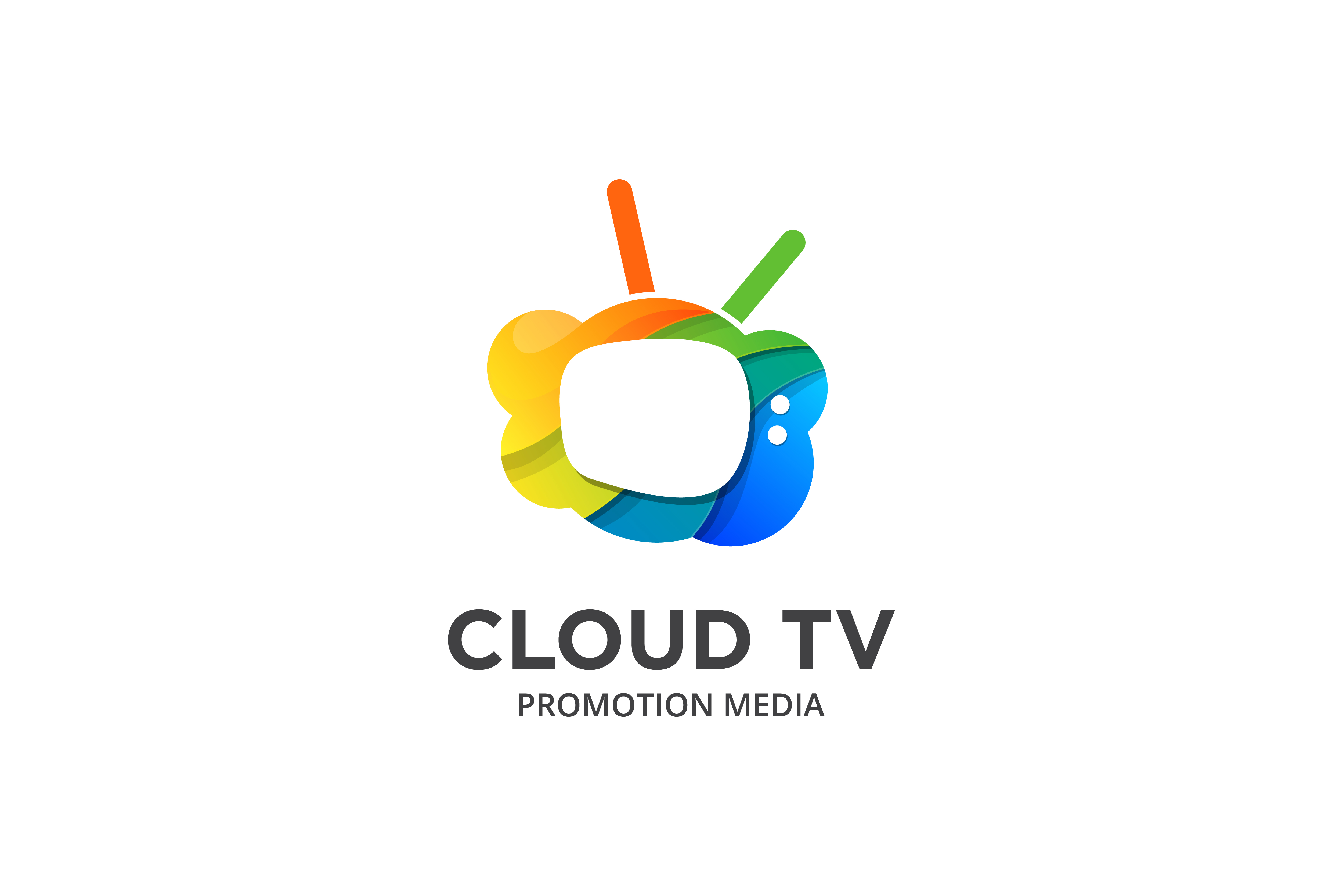Download Free Colorful Cloud Tv Logo Graphic By Noory Shopper Creative Fabrica for Cricut Explore, Silhouette and other cutting machines.