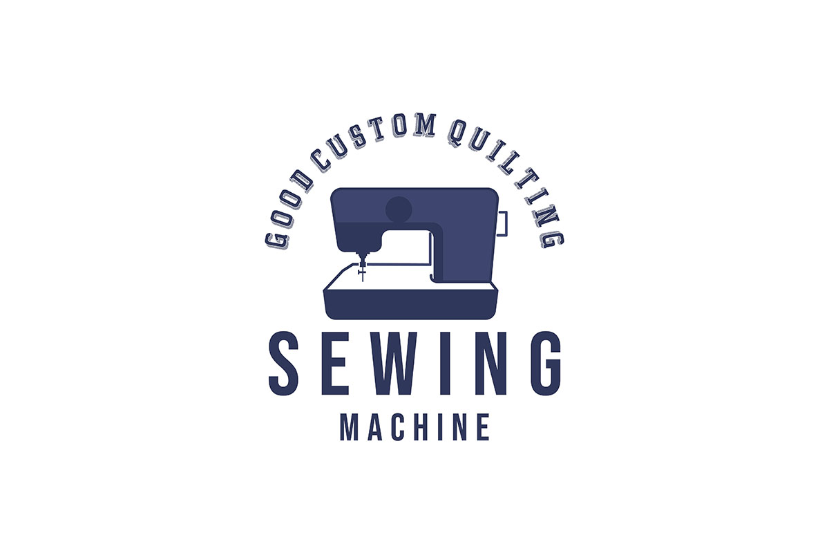 Download Free Sewing Machine Quilt Tailor Logo Ideas Graphic By for Cricut Explore, Silhouette and other cutting machines.