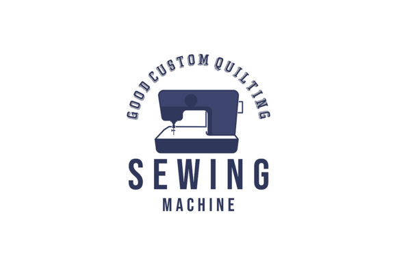 Sewing Machine Quilt Tailor Logo Ideas Graphic By
