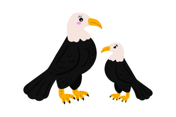 Download Free Mom And Baby Bald Eagles Svg Cut File By Creative Fabrica Crafts for Cricut Explore, Silhouette and other cutting machines.