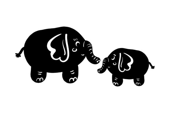 Download Free Mom And Baby Elephants Svg Cut File By Creative Fabrica Crafts for Cricut Explore, Silhouette and other cutting machines.