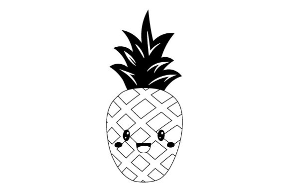 Download Free Pineapple Kawaii Design Svg Cut File By Creative Fabrica Crafts for Cricut Explore, Silhouette and other cutting machines.