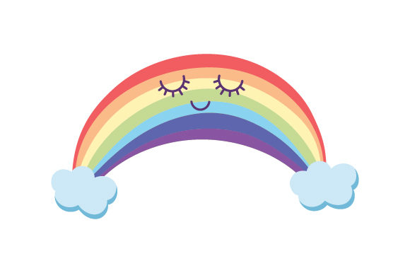 Rainbow Kawaii Design Designs & Drawings Craft Cut File By Creative Fabrica Crafts